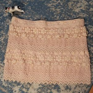 American Eagle Outfitters Crocheted Skirt
